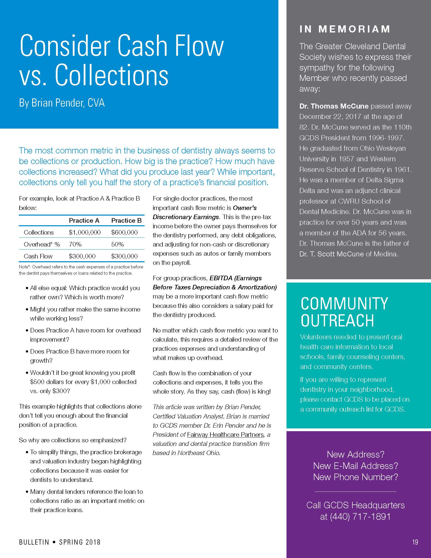 Consider Cash Flow Vs. Collections